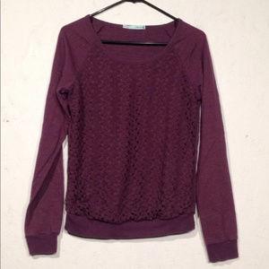 Maurices | purple sweater lace overlay medium